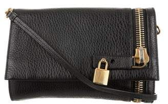 Tom Ford Leather Foldover Crossbody Bag