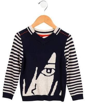 Deux Par Deux Boys' Intarsia V-Neck Sweater w/ Tags