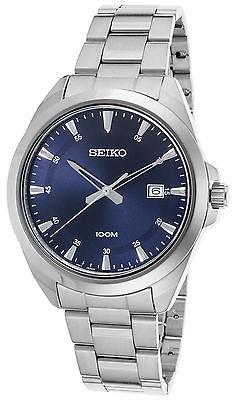 SeikoSeiko SUR207P1 Men's Classic Stainless Steel Blue Dial