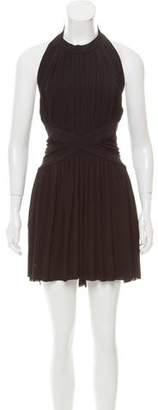 Balmain Draped Sleeveless Dress
