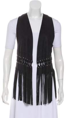 Rebecca Minkoff Leather Open Front Vest