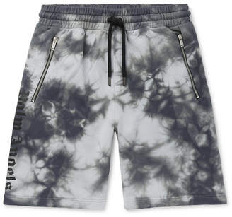 Palm Angels Tie-Dyed Loopback Cotton-Jersey Drawstring Shorts - Men - Gray