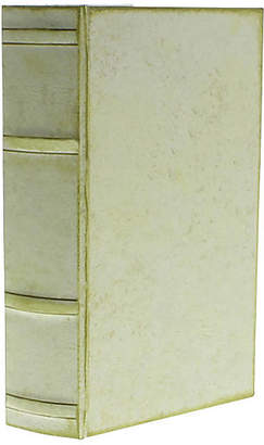 One Kings Lane Faux-Vellum Decorative Book Box - Pale Green