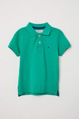 H&M Pique Polo Shirt - White - Kids