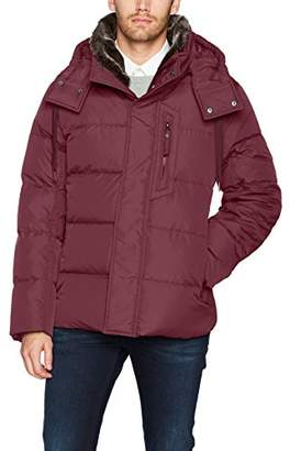 Andrew Marc Men's Baltic Mid Length Parka with Removable Faux Fur Collar