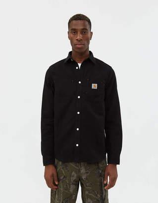Carhartt Wip Tony Canvas Shirt in Black