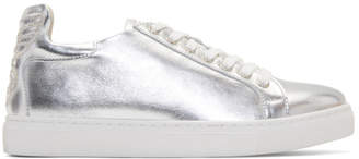 Sophia Webster Silver Metallic Bibi Butterfly Sneakers