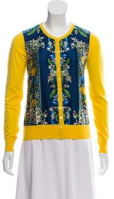 Dolce & Gabbana Virgin Wool And Silk Blend Printed Cardigan