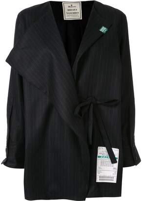 Puma Maison Yasuhiro wrap front stripe shirt