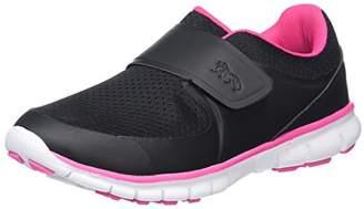 Lonsdale London Girls' Lima Velcro Multisport Outdoor Shoes, (Black/Pink), 37 EU