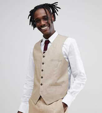 Heart & Dagger skinny vest in linen