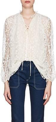Chloé Women's Lace Tieneck Top - White