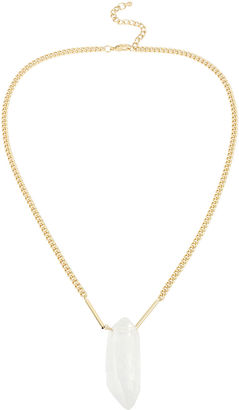 MIXIT Bleu Quartz Gold-Tone Pendant Necklace $12.49 thestylecure.com