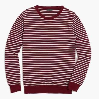J.Crew Slim-fit cotton piqué crewneck sweater in stripe