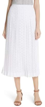 Tory Burch Carine Eyelet Midi Skirt