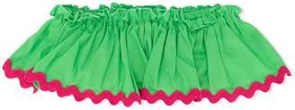Piccola Ludo ruffled bandeau bikini top