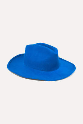 CLYDE Wool-felt Fedora - Blue
