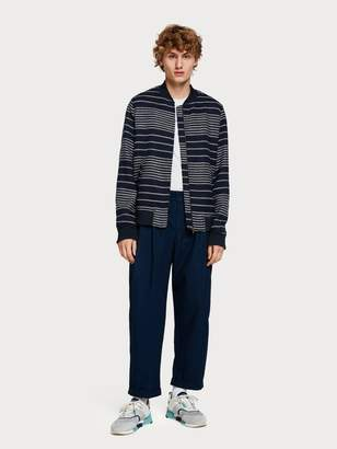 Scotch & Soda Raffia Stripe Bomber Jacket