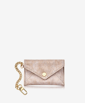 GiGi New York Mini Envelope with Clip, Gold Brushed Metallic