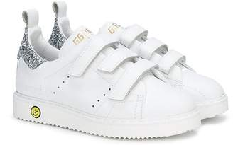 Golden Goose Kids touch strap fastening sneakers