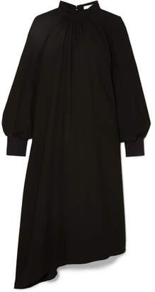 Tibi Asymmetric Twill Dress - Black