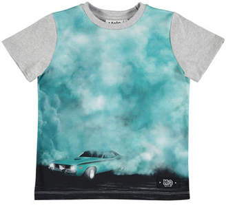 Molo Raddix Short-Sleeve Car & Smoke Tee, Size 4-12