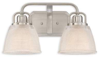 Quoizel Dublin 2-Light Bath Fixture in Brushed Nickel