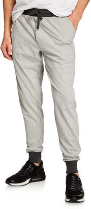 Unsimply Stitched Men's Lounge Pants with Contrast Cuffs