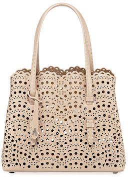 Alaia Mina Small Laser-Cut Tote Bag