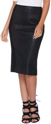 G.I.L.I. Got It Love It G.I.L.I. Printed Faux Leather Pencil Skirt