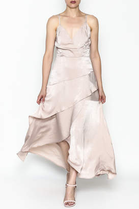 Mystic Satin Maxi Dress