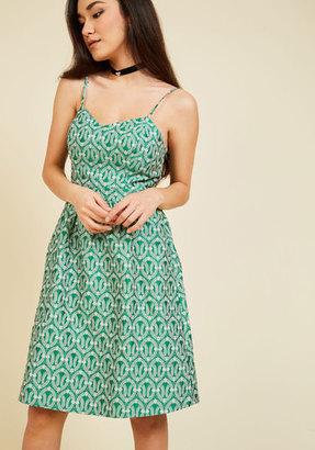 Appareline Inc Evenings Overseas A-Line Dress in Clover $139.99 thestylecure.com