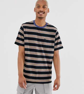 Volcom Belfast t shirt in black stripe