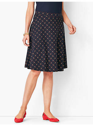 Talbots Knit Jersey Skirt - Printed