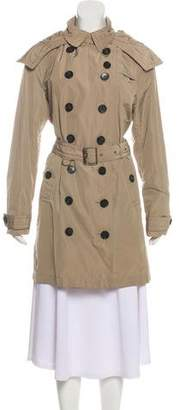 Burberry Nova Check-Trimmed Trench Coat