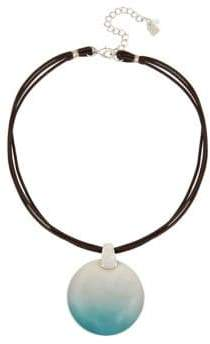 Robert Lee Morris Soho Fade Away Ombre Pendant Leather Necklace