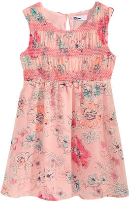 Epic Threads Smocked Floral-Print Dress, Little Girls, Created for Macy's