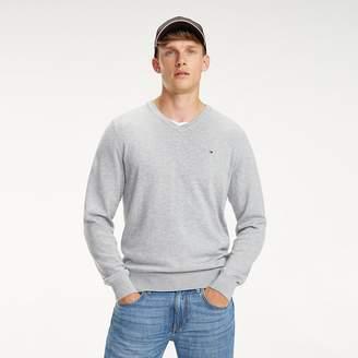 Tommy Hilfiger Cotton-Silk V-Neck Jumper