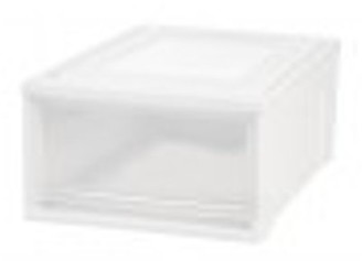 Iris Medium Plastic Box Chest Drawer Unit, White, 1 Drawer