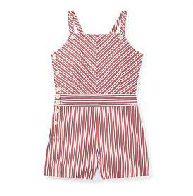 Polo Ralph Lauren Striped Bow-Back Cotton Romper(8-14 Years)