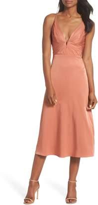 Lee SAU Lea Plunge Neck Midi Dress