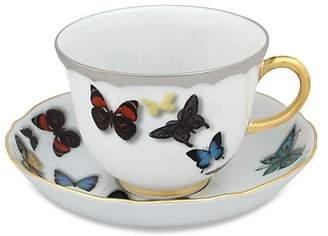 Christian Lacroix by Vista Alegre Butterfly Parade Porcelain Cup & Saucer Set/Set of 4