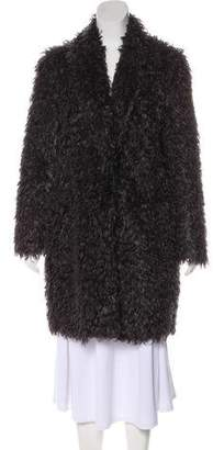 Elizabeth and James Faux Fur Knee-Length Coat