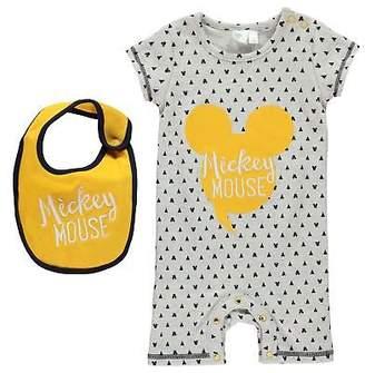 Disney Kids Short Sleeve Romper Suit Baby Rompers Sleep Round Neck Cotton Jersey