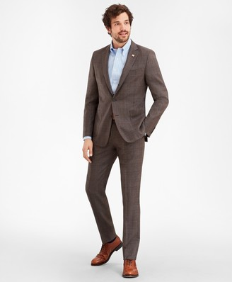 Brooks Brothers Regent Fit Three-Button Multi-Plaid 1818 Suit