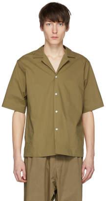 Studio Nicholson Tan Short Sleeve Cockle Shirt