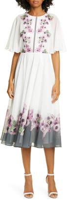 Ted Baker Neopolitan Floral Back Slit Dress