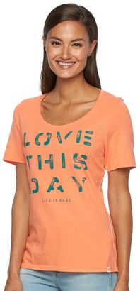 Women's Life is Good Graphic Scoopneck Tee $30 thestylecure.com