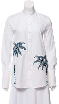 Victoria Beckham Long Sleeve Button-Up Top