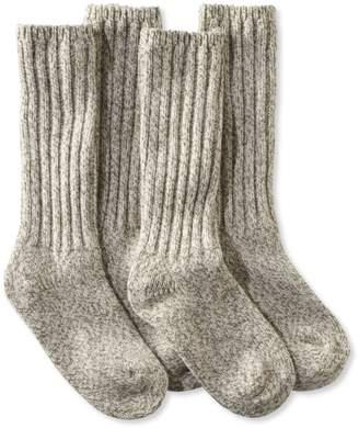 """L.L. Bean L.L.Bean Merino Wool Ragg Socks, 12"""" Two-Pack"""